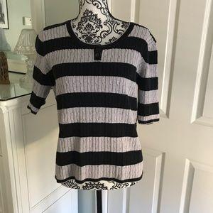 Liz Claiborne Black and Gray sweater